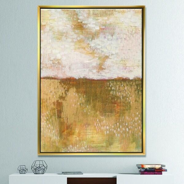 Shop Designart Amber Modern Horizon Abstract Framed