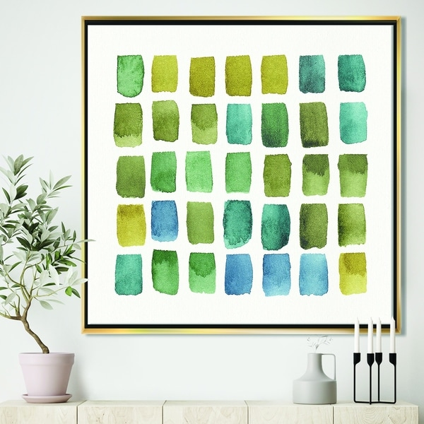 Shop Designart Geometric Maze Of Blue And Green