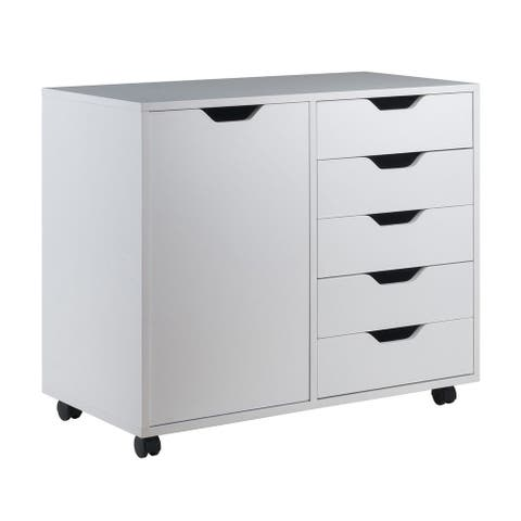 """Winsome 30.71""""W Halifax Wide Cabinet with 5 Gliding Drawers - White"""