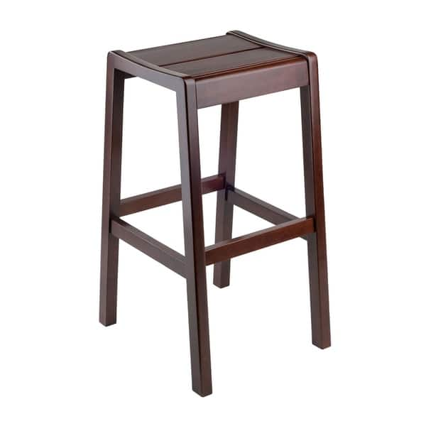 Wondrous Shop Winsome 29 Alicante Solid Wood Bar Stool In Walnut Pabps2019 Chair Design Images Pabps2019Com