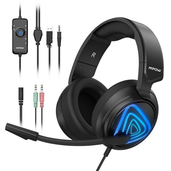 Mpow EG3 PC Gaming Headset 7 1 Surround Sound Audio Stereo