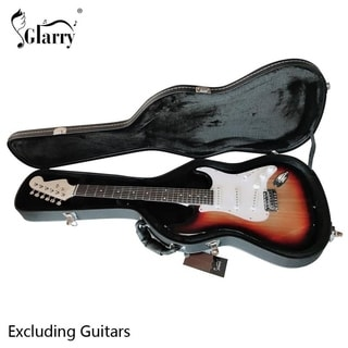 Glarry ST Microgroove Flat Surface Electric Guitar Hard Case
