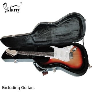 Glarry Microgroove Flat Surface Straight Flange Electric Guitar Hard Case