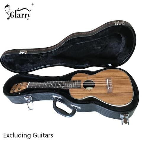 """Glarry 24"""" Concert Python Pattern Leather Ukulele Case - 24''"""