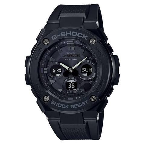 Casio Men's GSTS300G-1A1 'G-Shock' Chronograph Black Silicone Watch