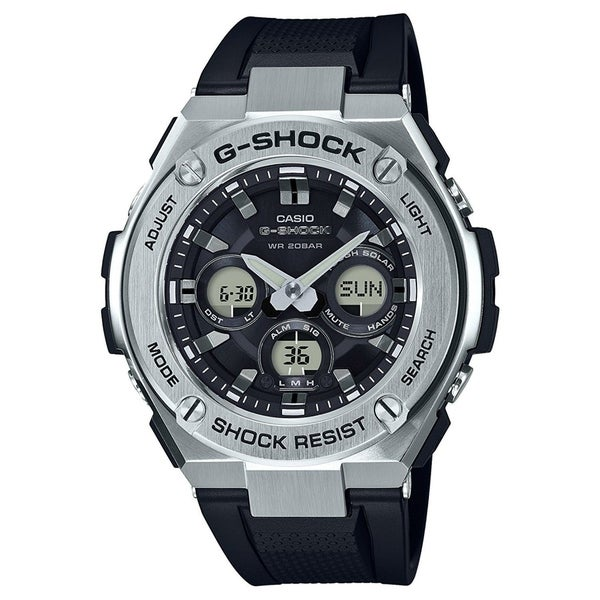 Casio Men's GSTS310-1A 'G-Shock' Chronograph Black Silicone Watch. Opens flyout.
