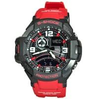 94c97ff1aa1 Shop Casio Men s G-Shock GA1000-4B Aviation Watch (Red Black) - Free ...