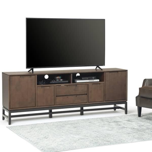 Wyndenhall Devlin Solid Hardwood 72 Inch Wide Modern