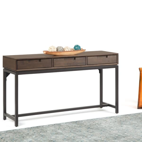 Carbon Loft Cardille Mid Century Wide Console Table