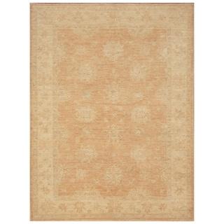 Handmade Vegetable Dye Oushak Wool Rug (Afghanistan) - 5' x 6'8