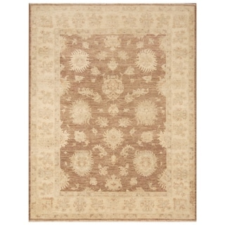 Handmade Vegetable Dye Oushak Wool Rug (Afghanistan) - 5' x 6'4