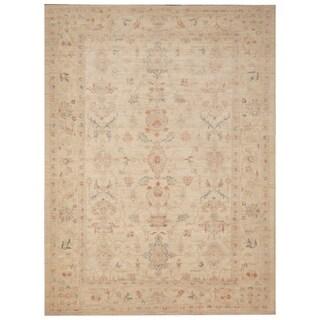 Handmade Vegetable Dye Oushak Wool Rug (Afghanistan) - 5'8 x 7'7