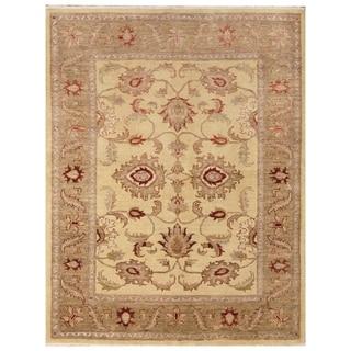 Handmade Vegetable Dye Oushak Wool Rug (Afghanistan) - 5'1 x 6'8