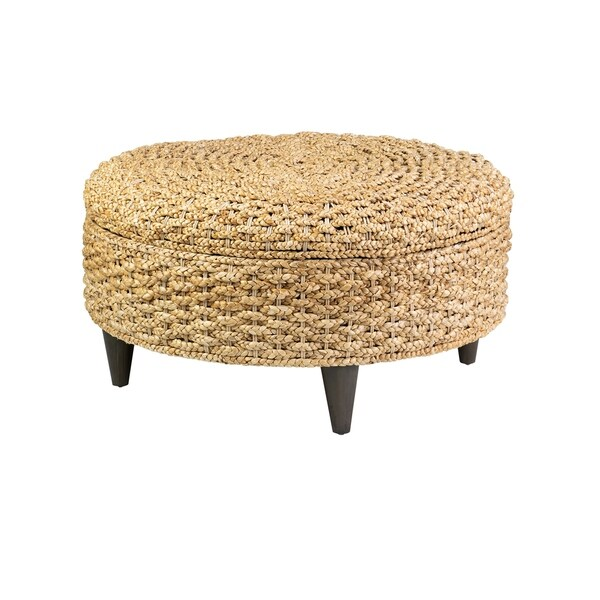 Shop East At Main S Meadow Waterhyacinth Round Ottoman