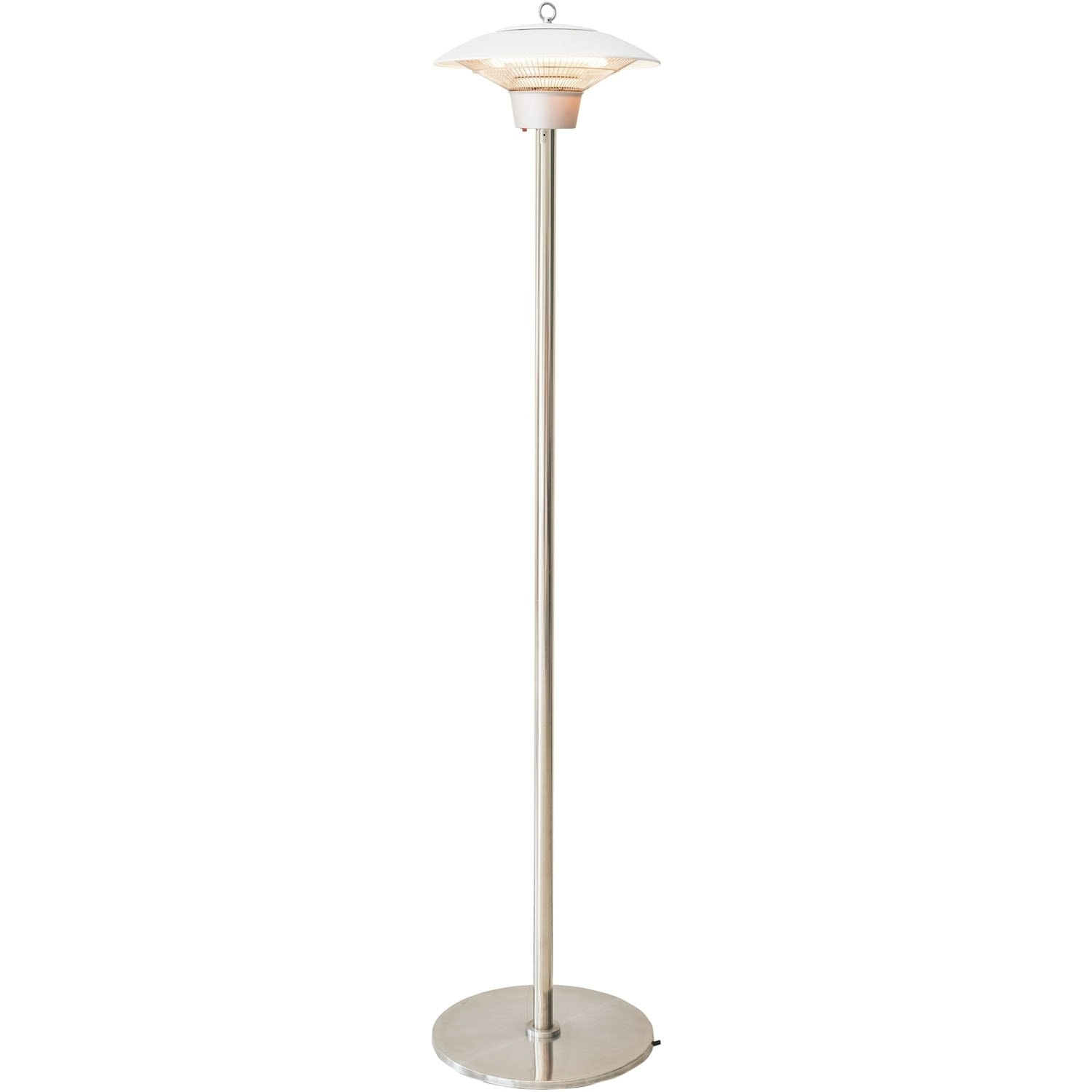 Shop Hanover Electric Halogen Infrared Stand Heat Lamp White On Sale Overstock 25982731