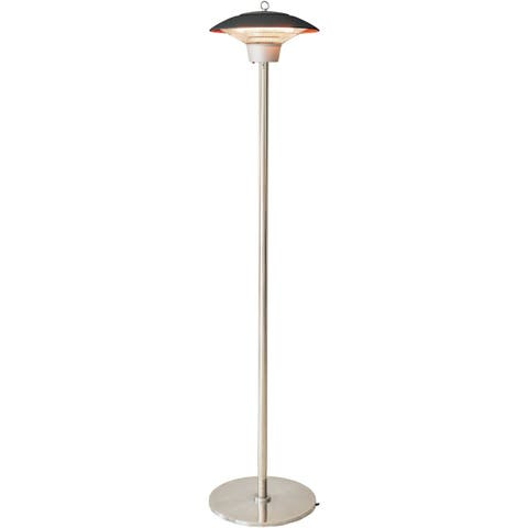 Hanover Electric Halogen Infrared Stand Heat Lamp, Brown