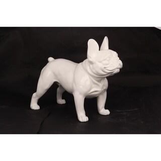 Unique Décor- White Bulldog