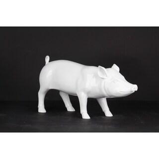 Unique Décor- Little White Piggie