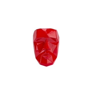 Modern Wall Décor- Geometric Angles Red Mask