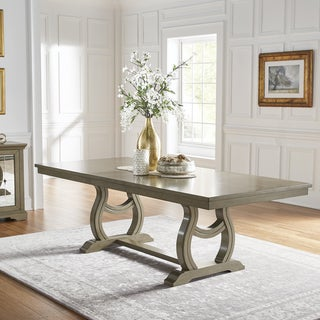 Maizy Trestle Base Dining Table with Extending Leaf by iNSPIRE Q Artisan