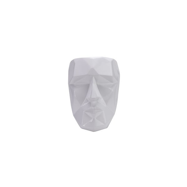 Modern Wall Décor- Geometric Angles White Mask
