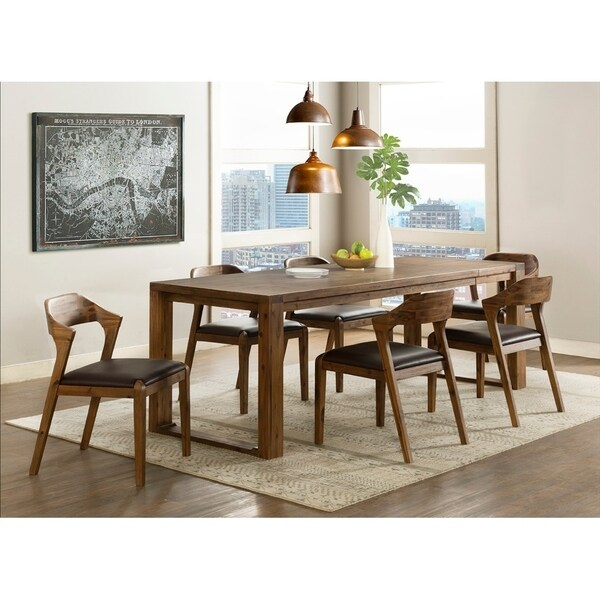 Ultimate Accents Urban 7 Piece Dining Set Reviews: Shop Ramus Mid Century Wood 7 Piece Dining Set, 2 Arm