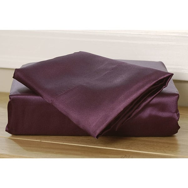 Purple Satin Sheet Set