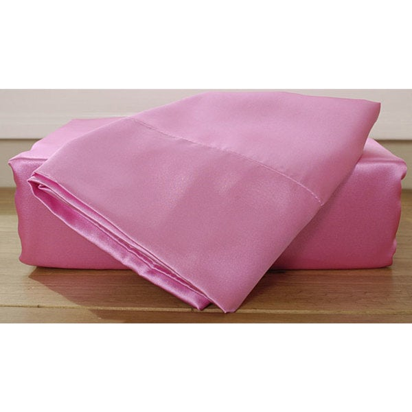 Pink Satin Sheet Set