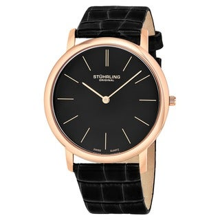 Stuhrling Original 'Ascot' Men's Swiss Quartz Strap Watch