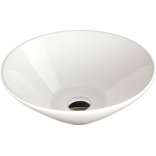 Fontaine Mini Round Porcelain Vessel Sink - Thumbnail 0
