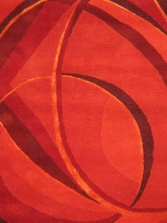 EORC Hand-tufted Wool Red Red Mina Rug (7'9 x 9'9) - Thumbnail 1