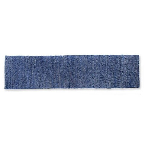 Handmade Cotton and Fragrant Root 'Blue Paradise' Table Runner (Indonesia)