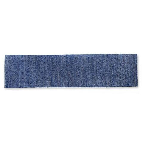 "Handmade Blue Paradise Cotton Table Runner (Indonesia) - 13.75"" x 59"""