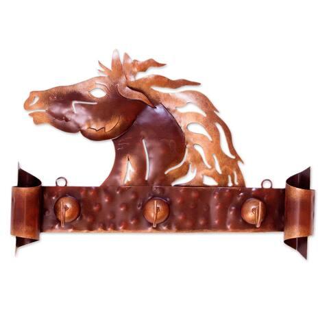 'Horse of Gold' Iron Coat Rack