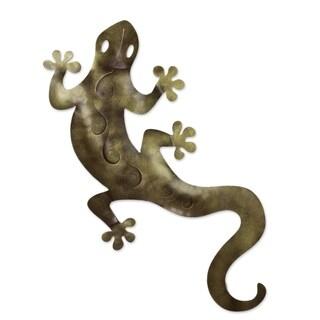 'Golden Gecko' Iron Wall Adornment (Mexico)