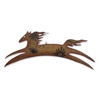 Handmade Cave Art Pony Iron Wall Adornment (Mexico)