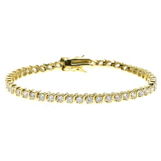 Simon Frank Gold Overlay Cubic Zirconia Diamoness Bracelet (2 options available)