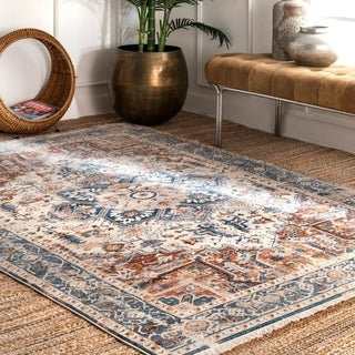 The Curated Nomad Dirk Traditional Tribal Fringe Border Area Rug