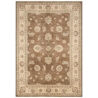 Handmade Vegetable Dye Oushak Wool Rug (Afghanistan) - 5'6 x 7'9