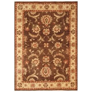 Handmade Vegetable Dye Oushak Wool Rug (Afghanistan) - 5'2 x 7'10