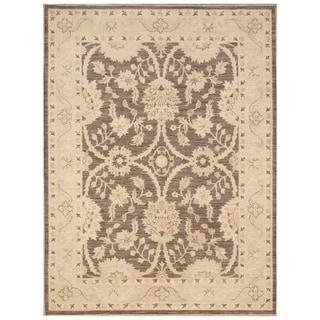 Handmade Vegetable Dye Oushak Wool Rug (Afghanistan) - 5' x 6'6