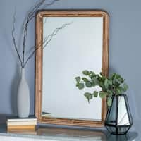 The Gray Barn Wilset Wooden Rectangle Wall Mirror - Brown