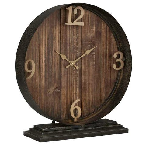 Carbon Loft Ahearn Table Clock Round