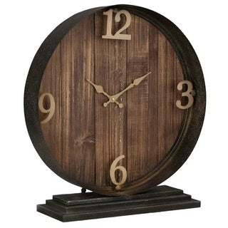 Carbon Loft Ahearn Table Clock Round