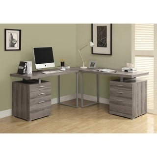 Computer Desk - Dark Taupe Reclaimed Look L Shaped