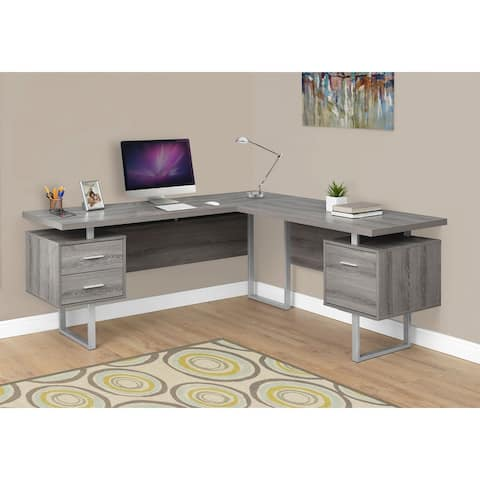 Carbon Loft Brandenberger Dark Taupe Left or Right Facing Computer Desk