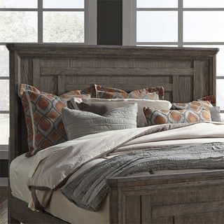Copper Grove Debelets Artisan Wire-brushed Aged Oak King Panel Headboard