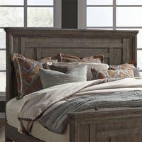 Artisan Prairie Wirebrushed Aged Oak King Panel Bed