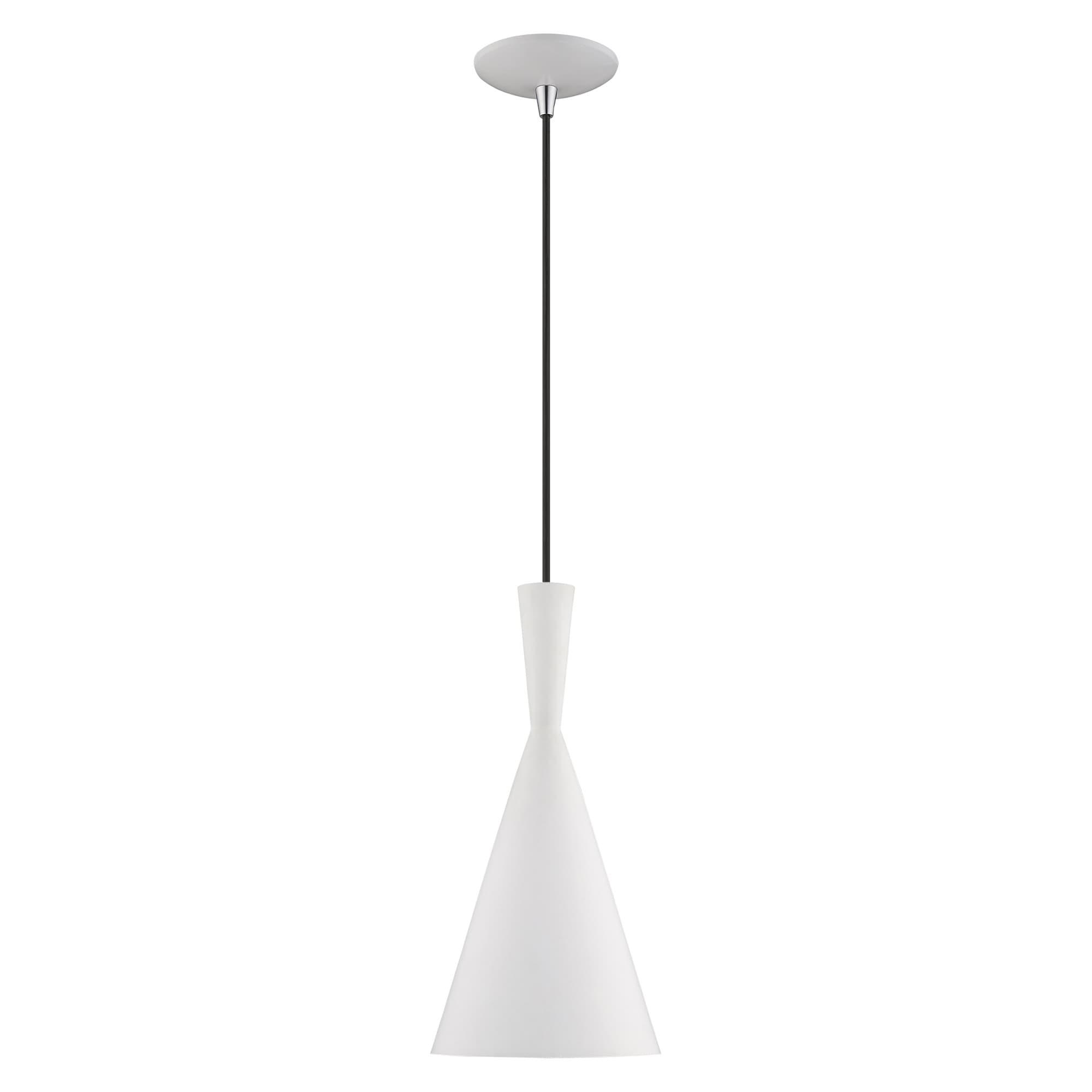 Livex Lighting Metal Double Cone Shade 1 Light Mini Pendant 7 25 Dia X 21 80 Adj H Overstock 25994139