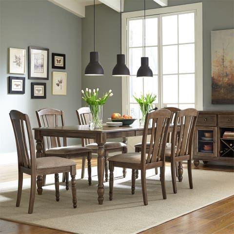 Liberty Candlewood Weather Grey 7-piece Rectangular Table Set